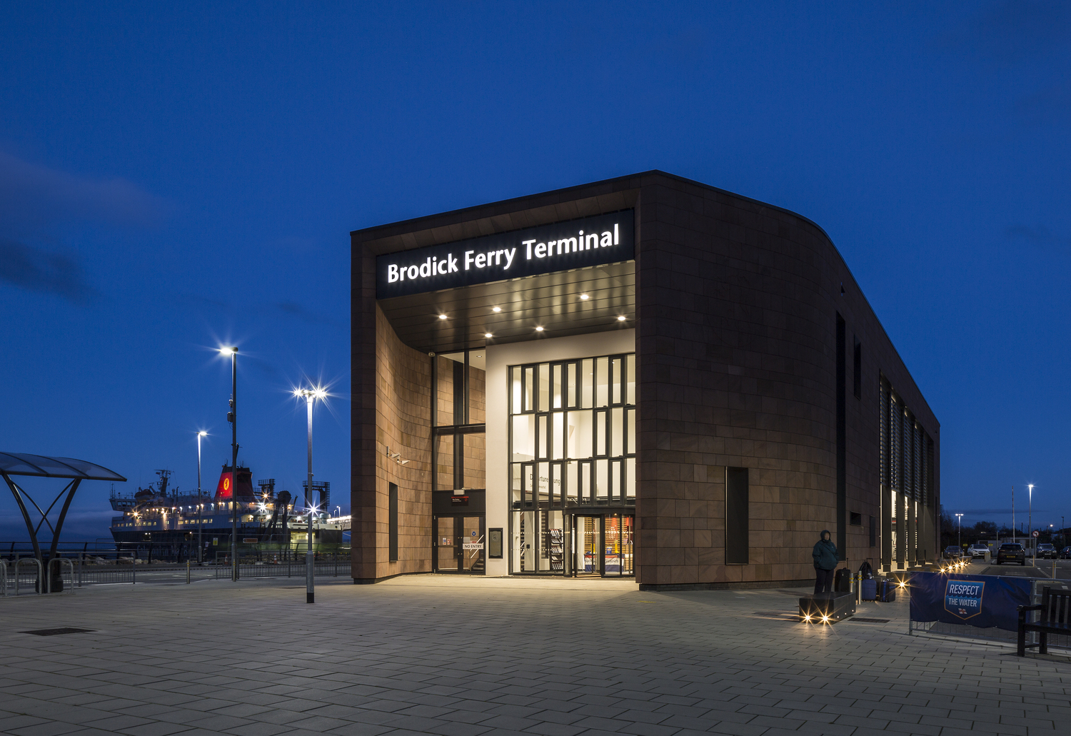 Brodick Ferry Terminal shortlisted for 'Commercial/Industrial Project of the Year' © Keith Hunter