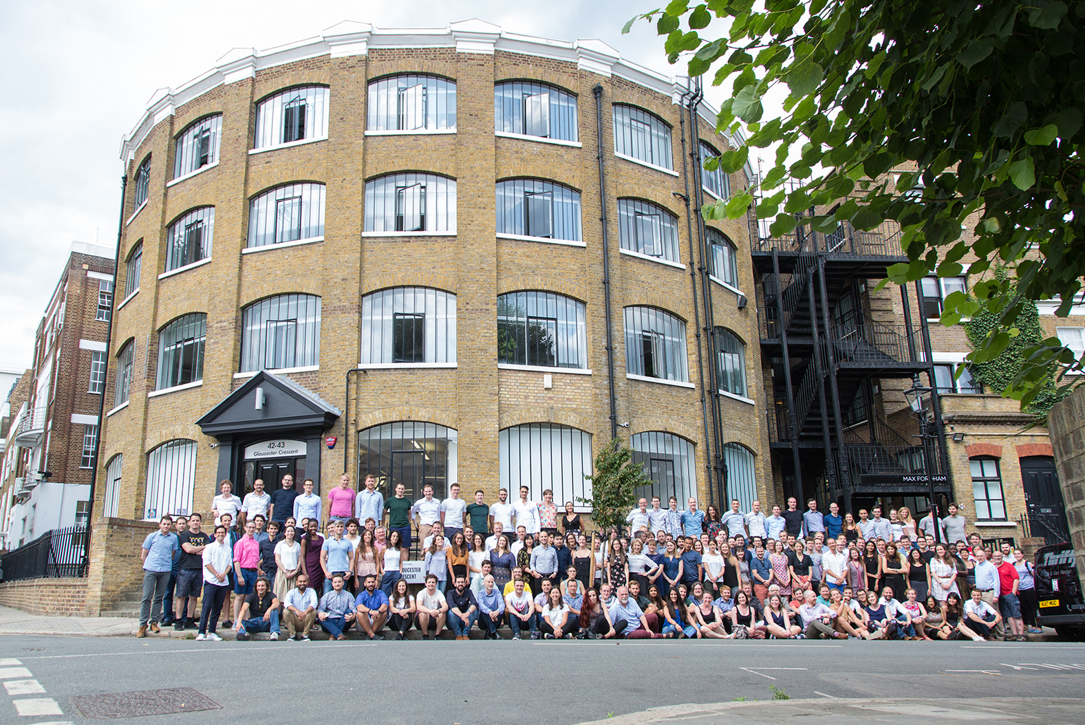 The Practice in front of the London office - we're shortlisted for Building Performance Consultancy of the Year 2021!